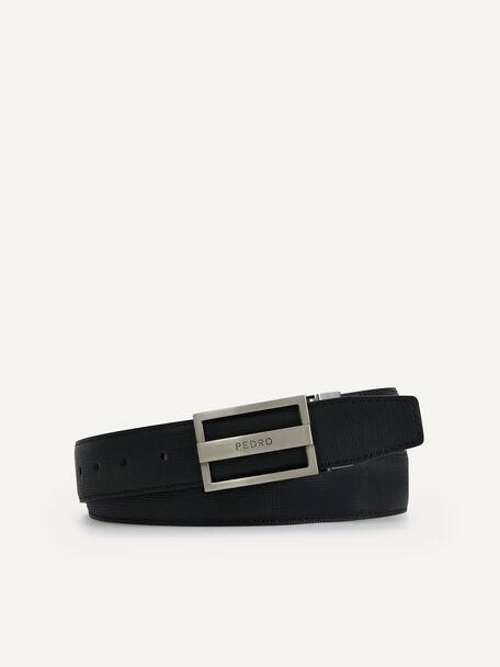 Reversible Leather Tang Belt, Black, hi-res