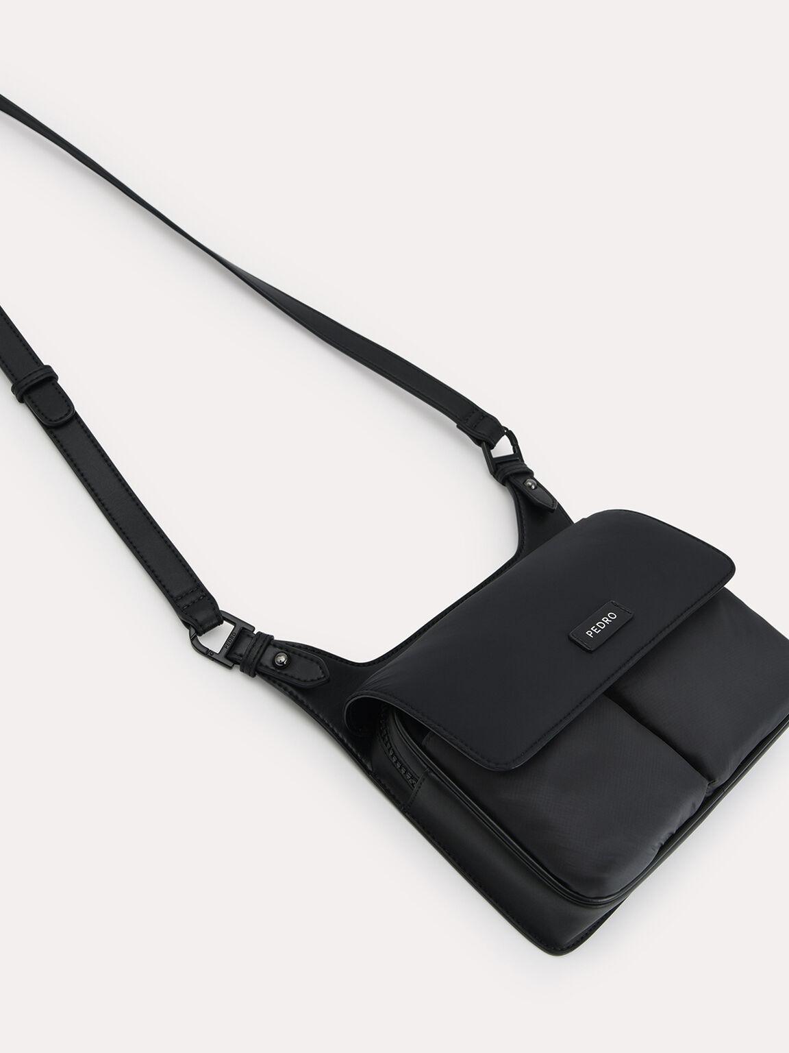 Utilitarian Sling Bag, Black, hi-res