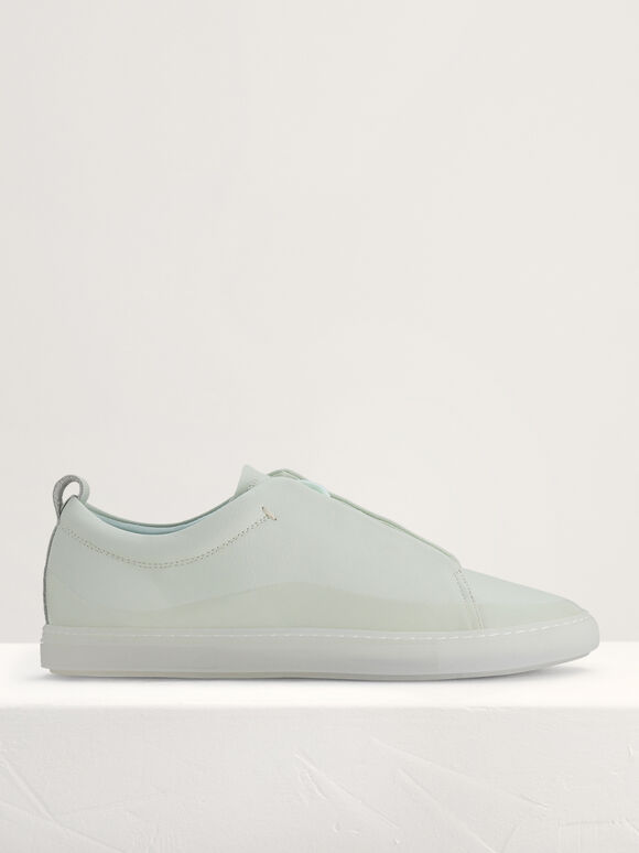 Casual Court Sneakers, Light Green, hi-res