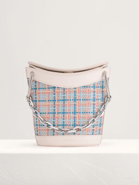 Woven Bucket Bag, Multi, hi-res