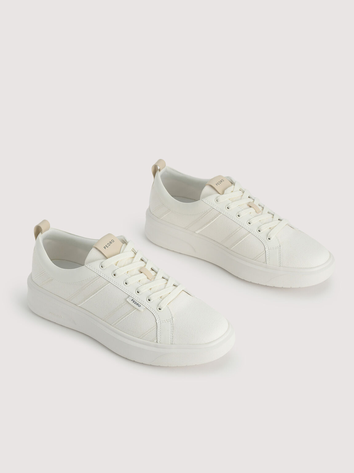 Sustainable Court Sneakers, Chalk, hi-res