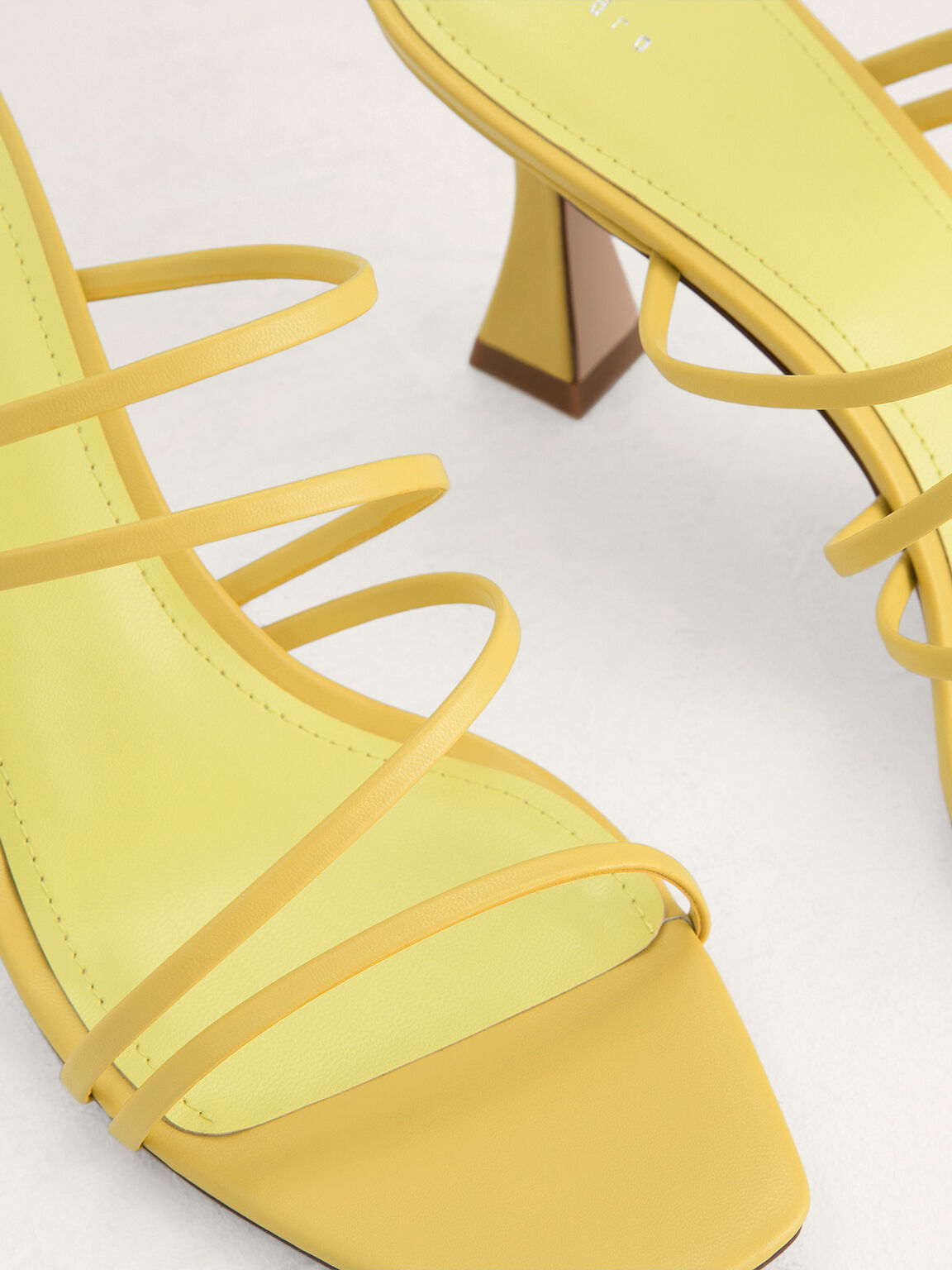 Strappy Heeled Sandals, Yellow, hi-res