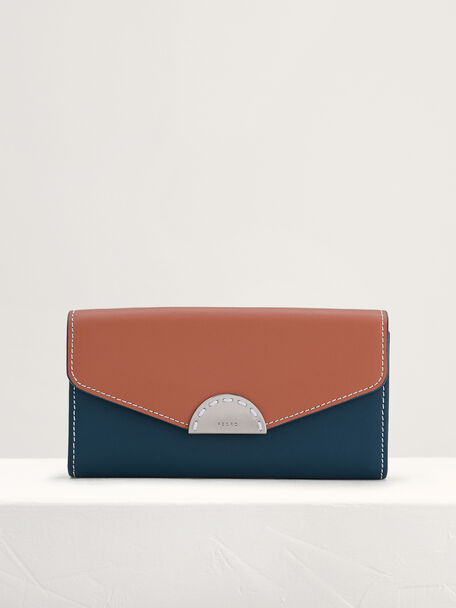 Long Leather Wallet on Chain, Multi2, hi-res