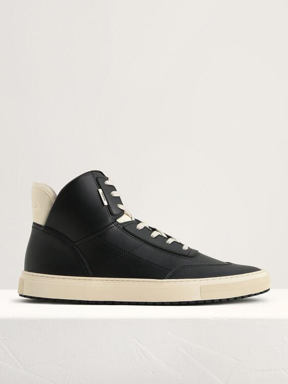 High-Top Sneakers, Black, hi-res