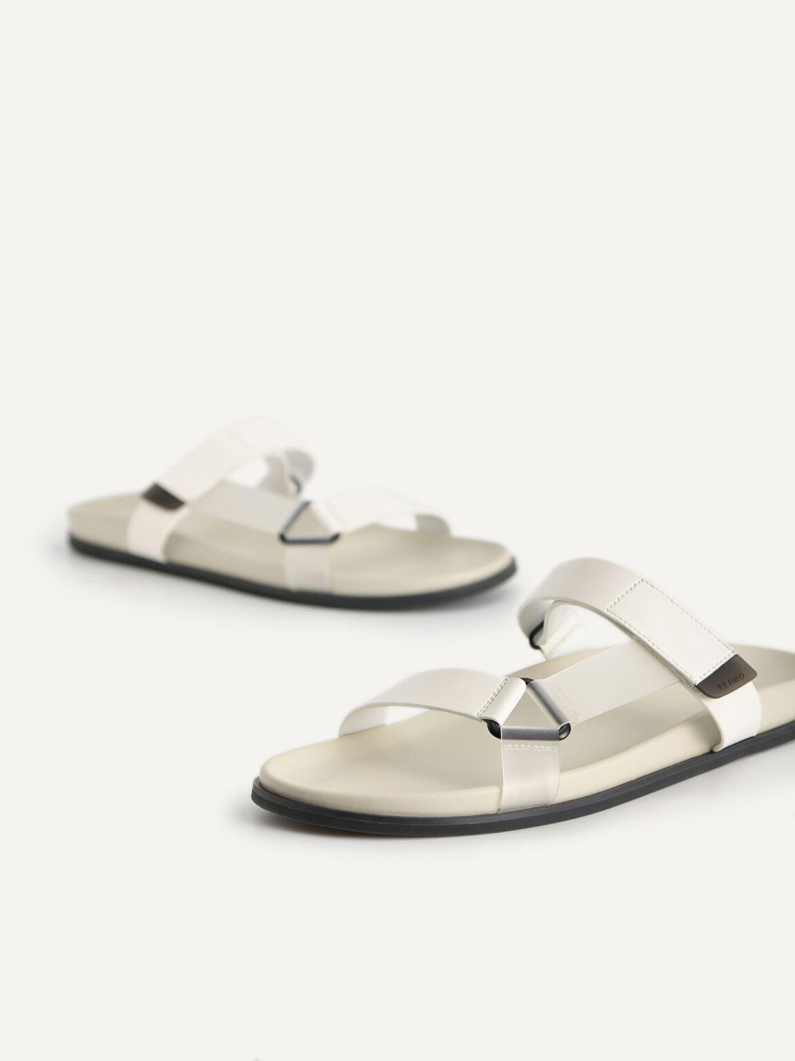 Velcro Strap Sandals, Chalk, hi-res