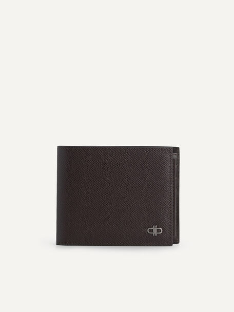 Icon Leather Bi-Fold Wallet with Insert, Dark Brown, hi-res