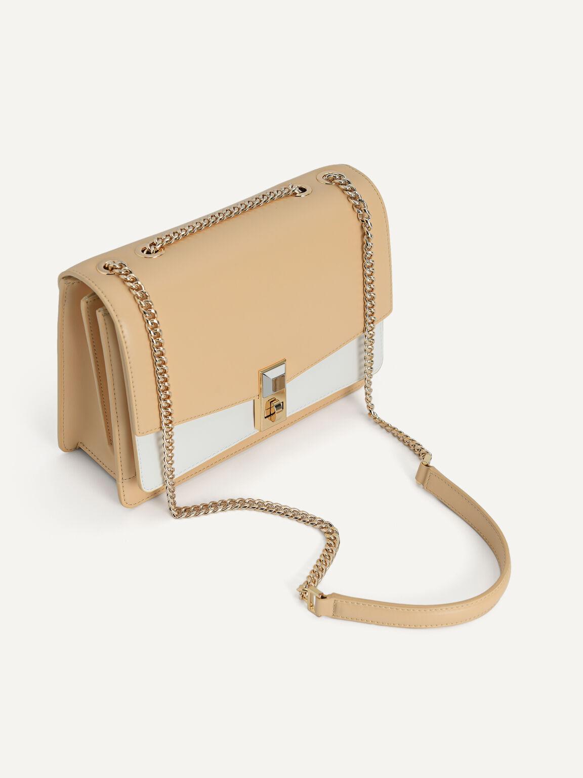 Duo-Toned Tiered Shoulder Bag, Multi, hi-res