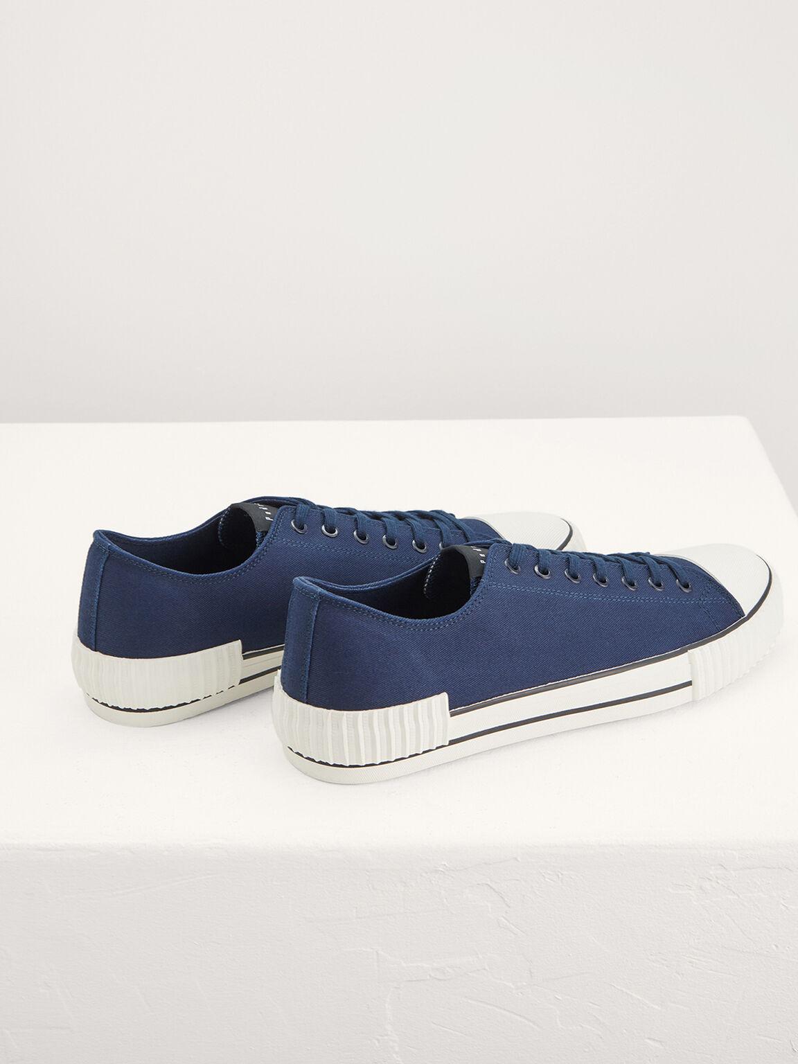 Casual Canvas Sneakers, Navy, hi-res
