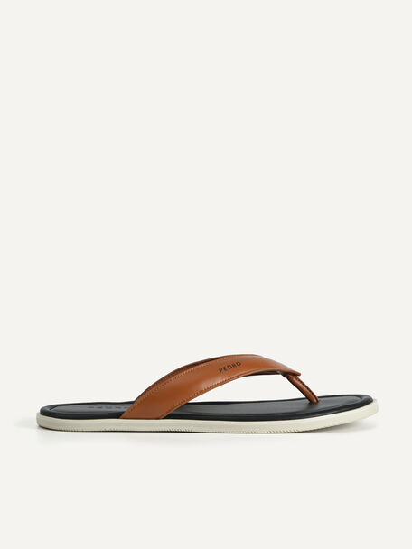 Padded Thong Sandals, Brown, hi-res