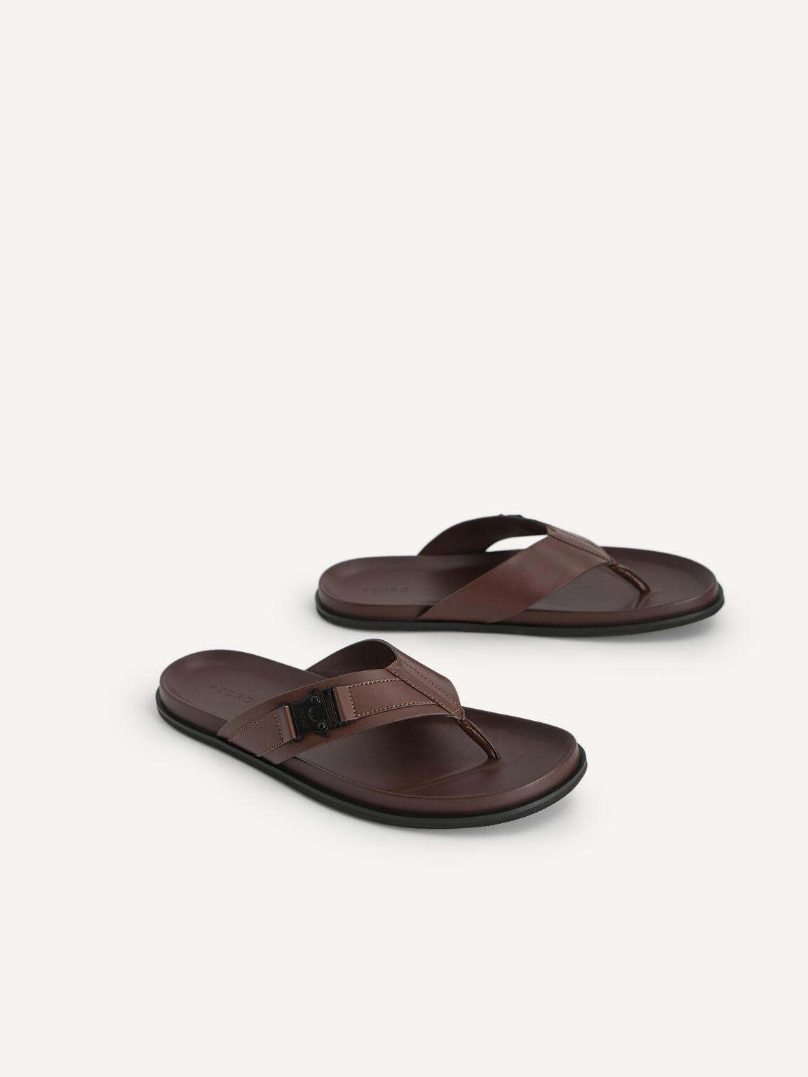 Thong Sandals, Dark Brown, hi-res