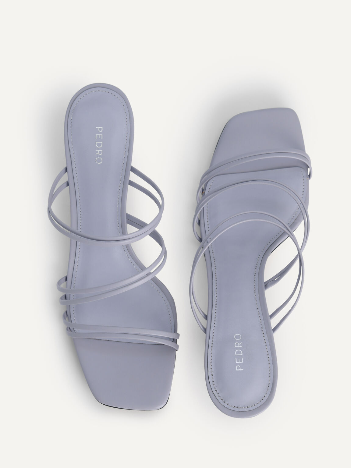 Strappy Heeled Sandals, Lilac, hi-res