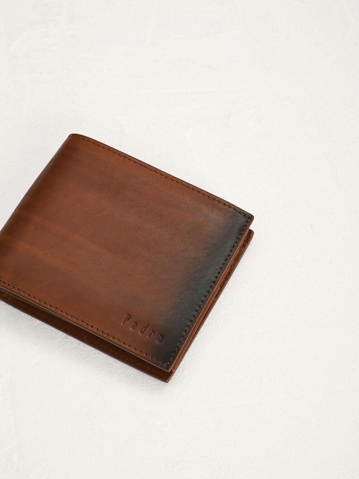 Leather Bi-Fold Flip Wallet, Cognac, hi-res
