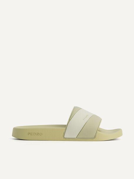 Pastel Slides, Olive, hi-res