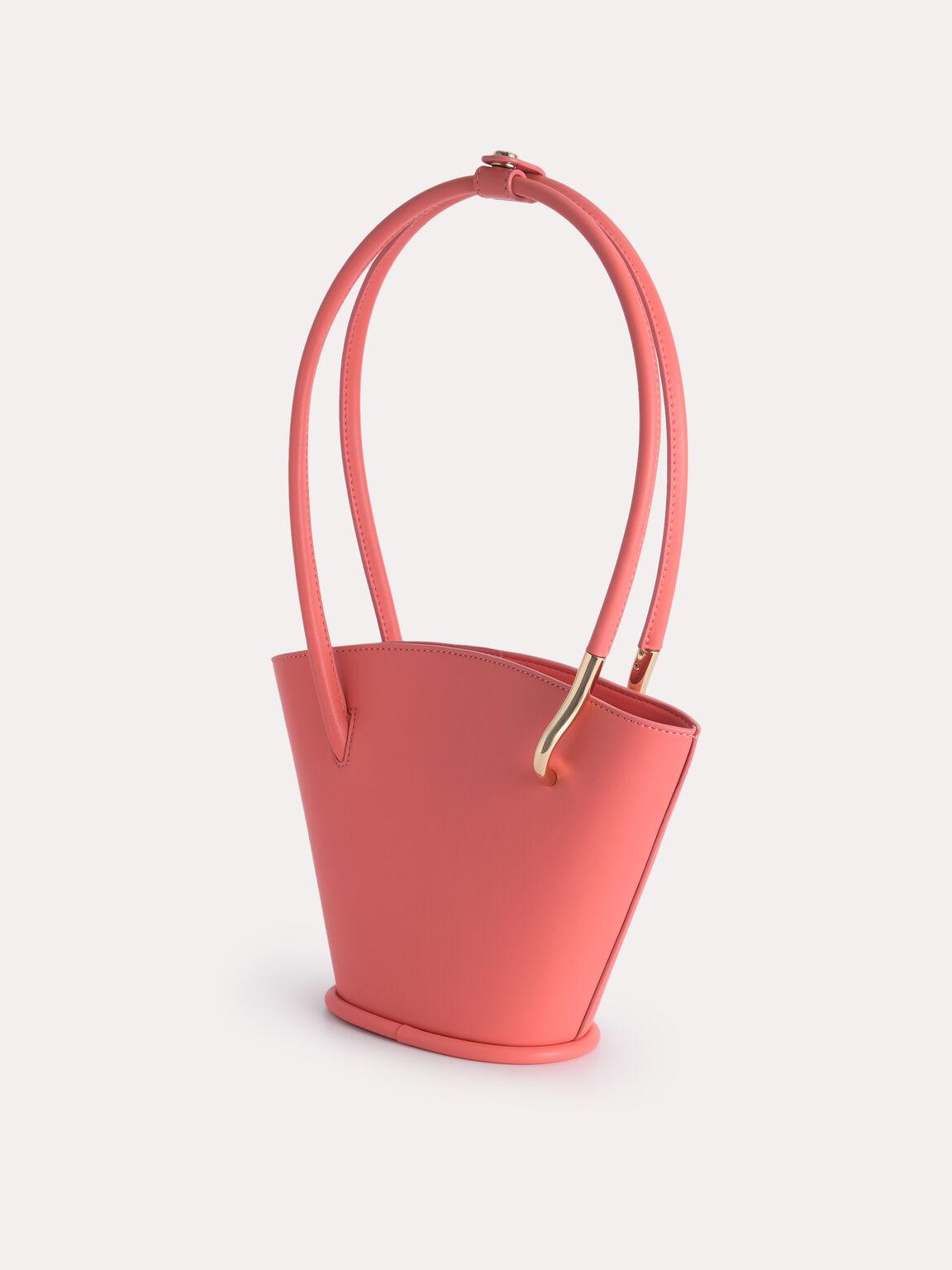 Pastel Bucket Tote Bag, Coral Pink, hi-res