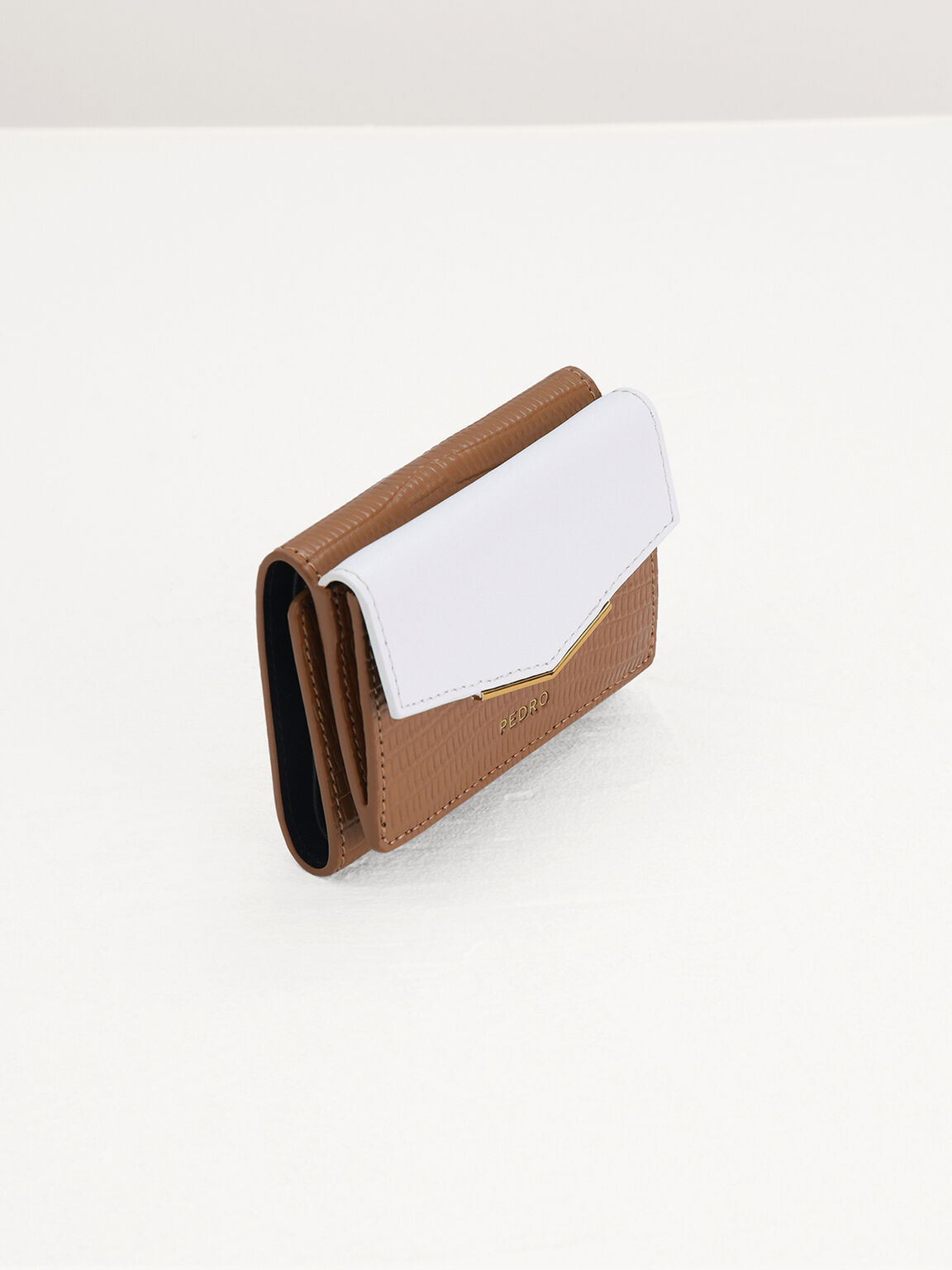 Lizard-Effect Leather Wallet, Multi, hi-res