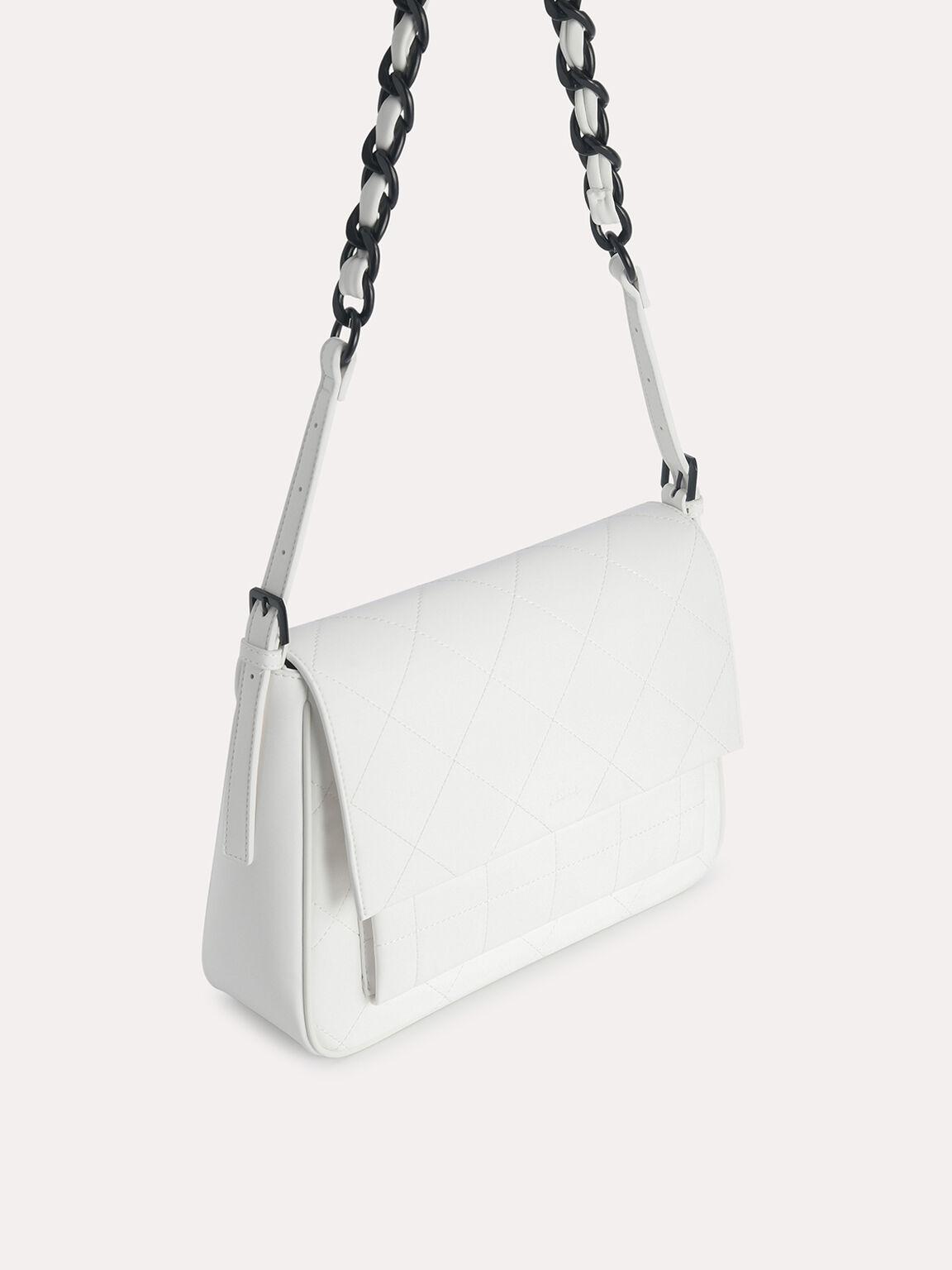 Slouchy Shoulder Bag, Chalk, hi-res