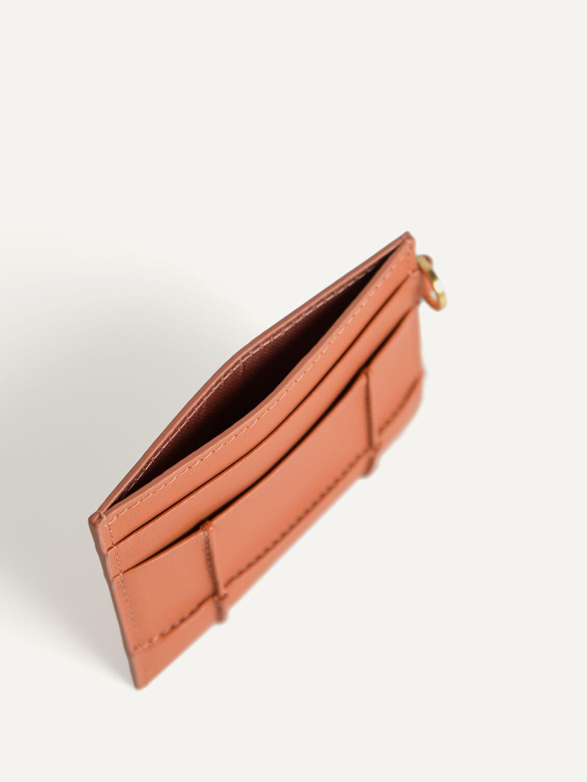 Leather Card Holder, Blush, hi-res