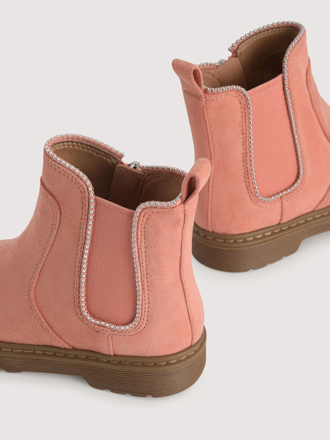 Chelsea Boots with Pearl Detailing, Coral, hi-res