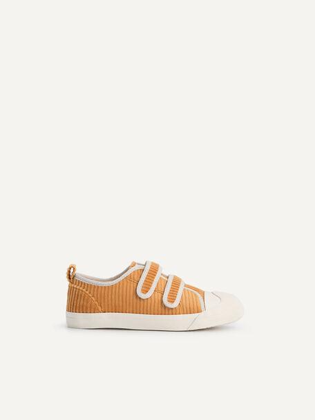 Corduroy Unisex Kids Sneaker, Mustard, hi-res