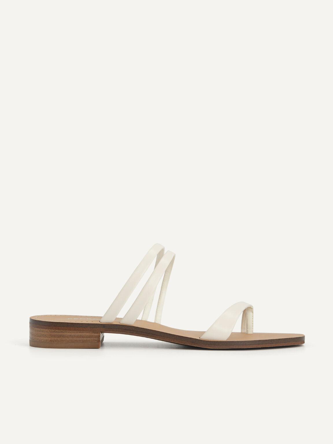 Strappy Toe Loop Sandals, Chalk, hi-res