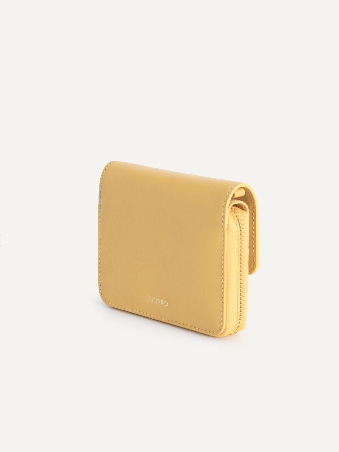 Leather Bi-Fold Wallet, Sand, hi-res
