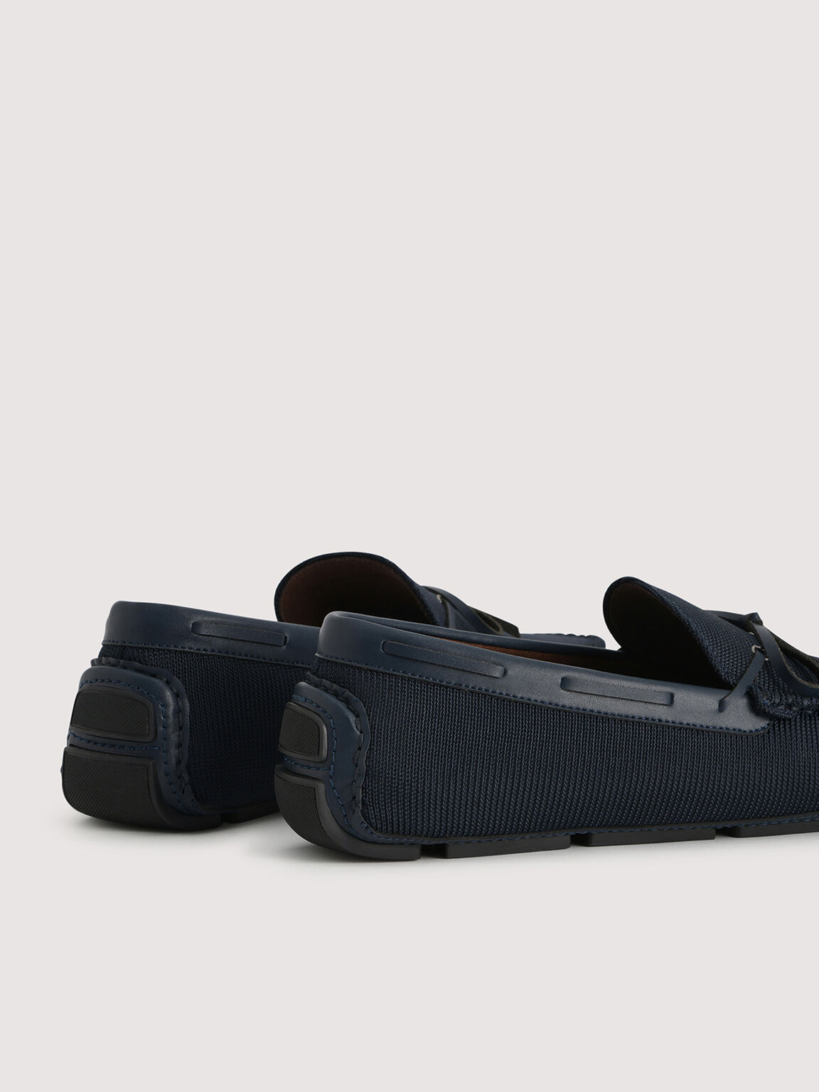 Mesh Moccasin, Navy, hi-res