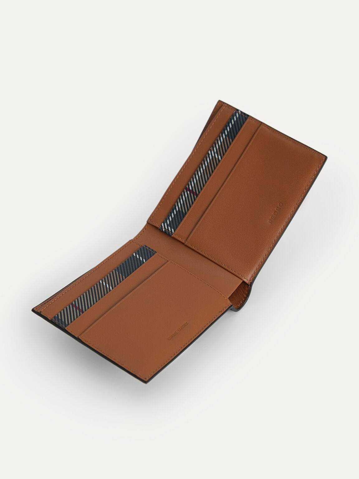 Textured Leather Bi-Fold Wallet, Black, hi-res