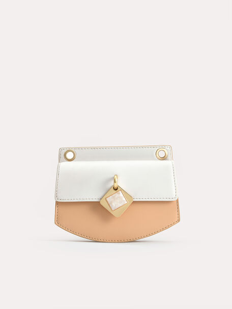 Micro Shoulder Bag with Marble Buckle, Multi, hi-res
