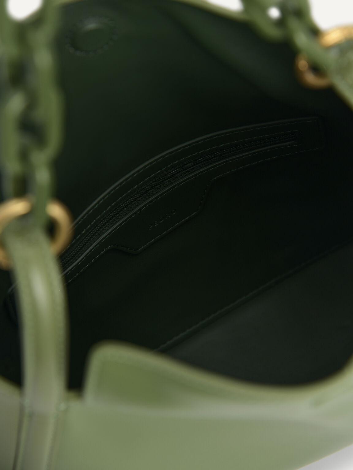 Chain Shoulder Bag, Military Green, hi-res