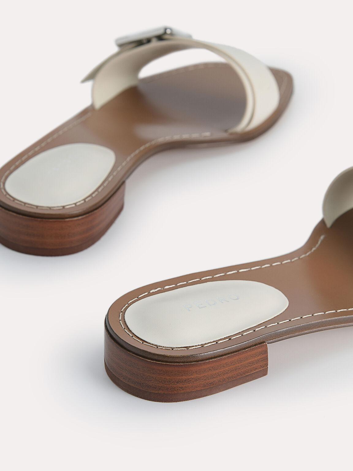 Casual Buckle Sandals, Chalk, hi-res