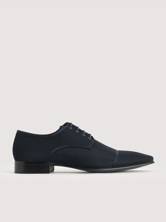 Mesh Derby Shoes, Navy, hi-res