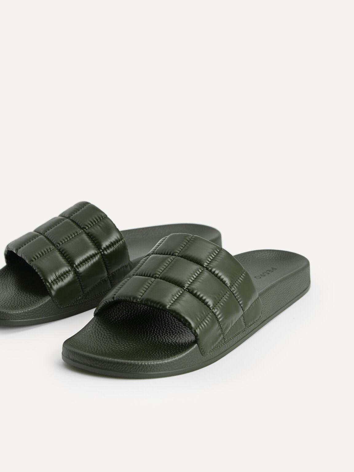 絎縫拖鞋, 军绿色, hi-res