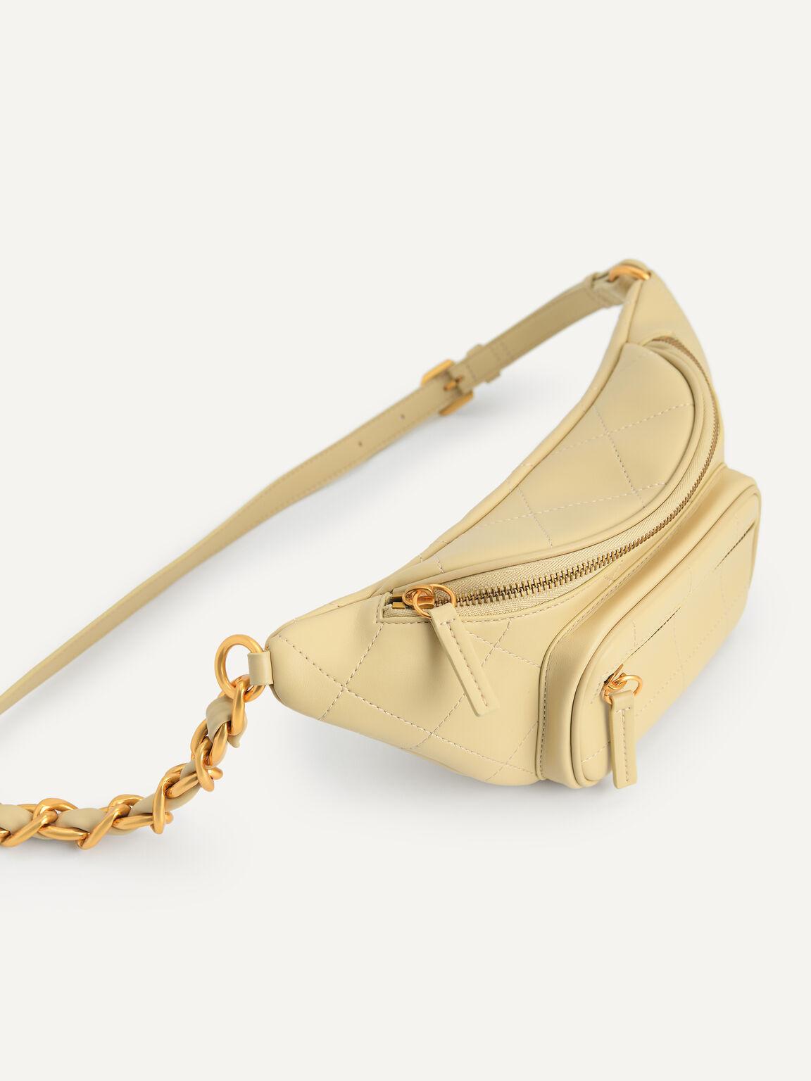 Quilted Sling Bag, Sand, hi-res