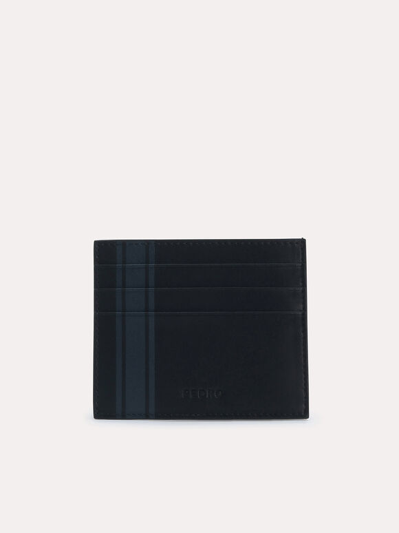 Two-Tone Leather Cardholder, Black, hi-res