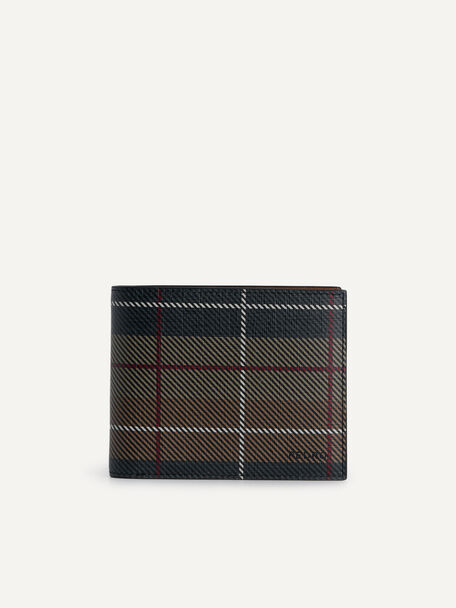 Textured Leather Bi-Fold Wallet with Insert, Multi, hi-res