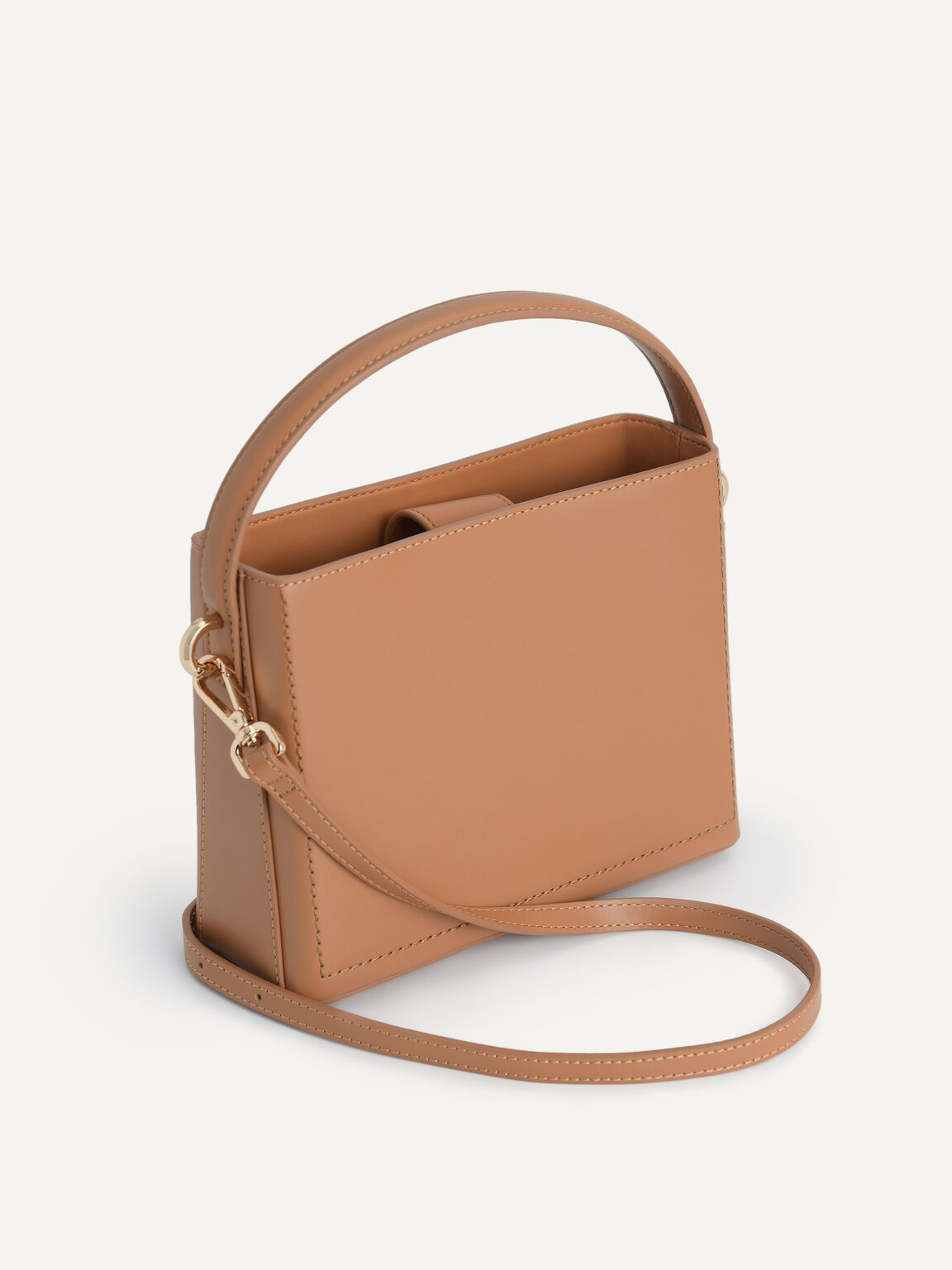 Boxy Top Handle with Braided Strap, Camel, hi-res