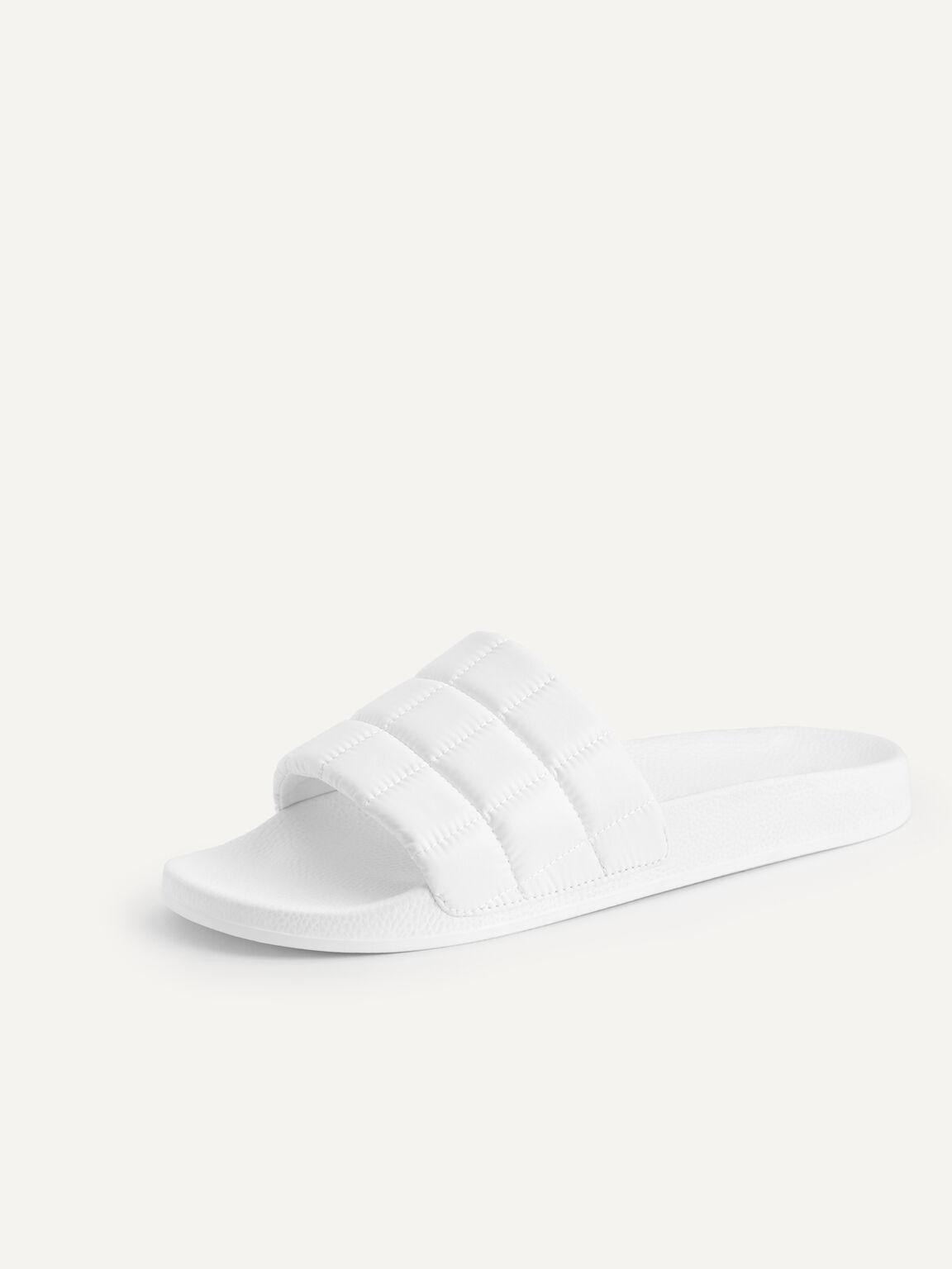 Quilted Slides, White, hi-res