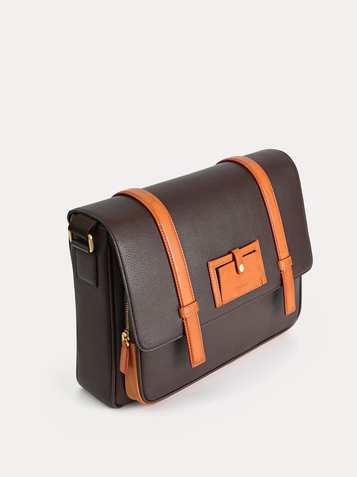 休閒郵差包, 棕色, hi-res