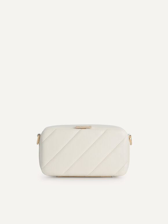 Quilted Boxy Shoulder Bag, Chalk, hi-res