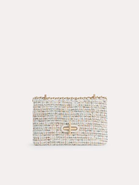 Tweed Shoulder Bag, Multi, hi-res