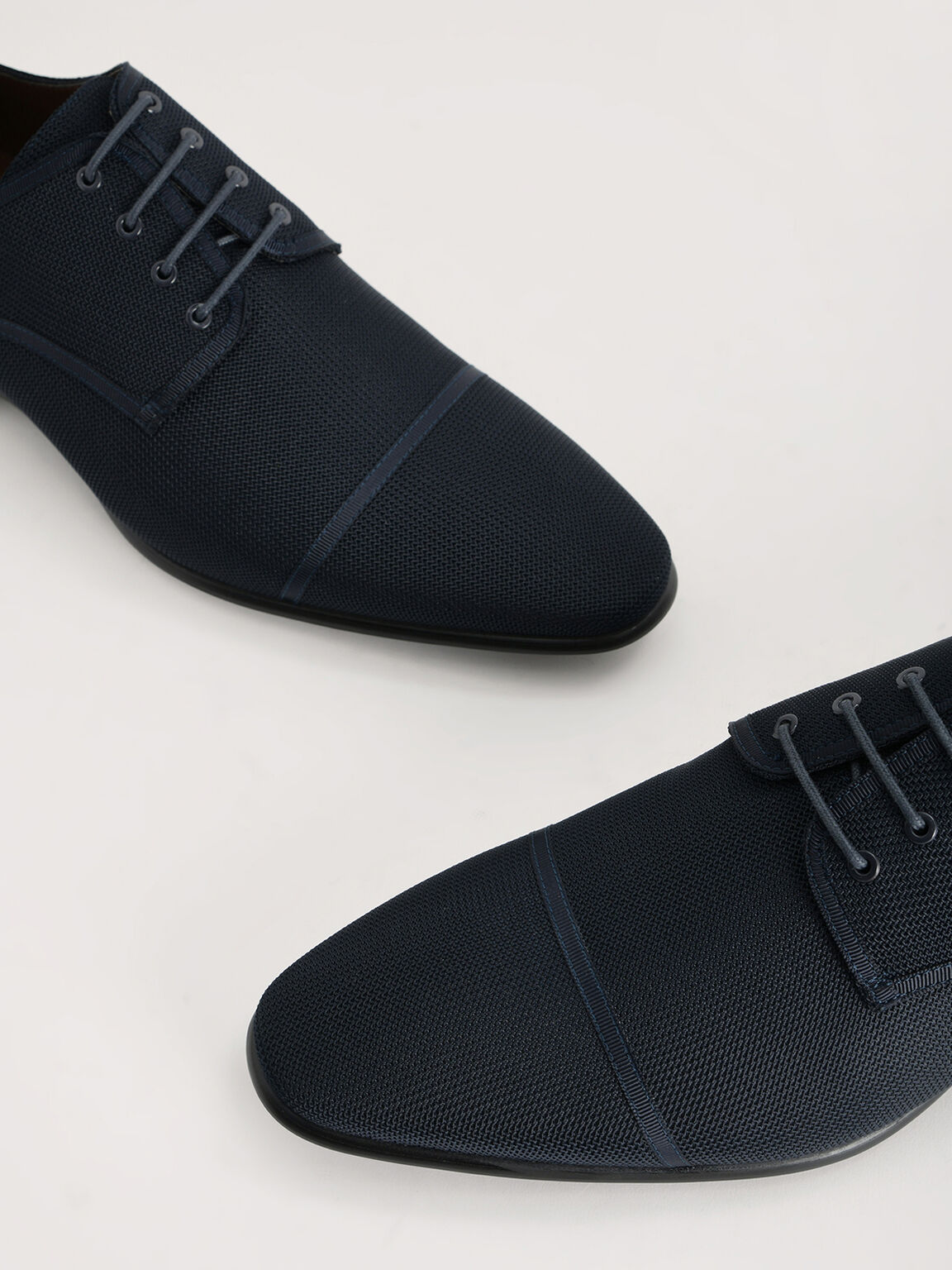 Mesh Derby Shoes, Navy, hi-res