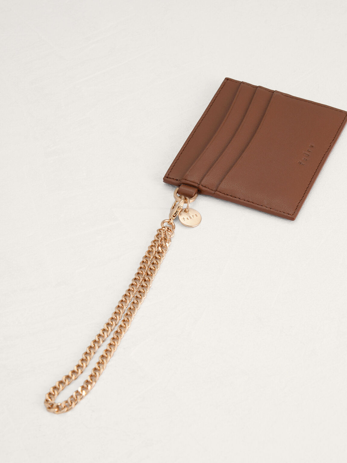 Leather Card Holder, Cognac, hi-res