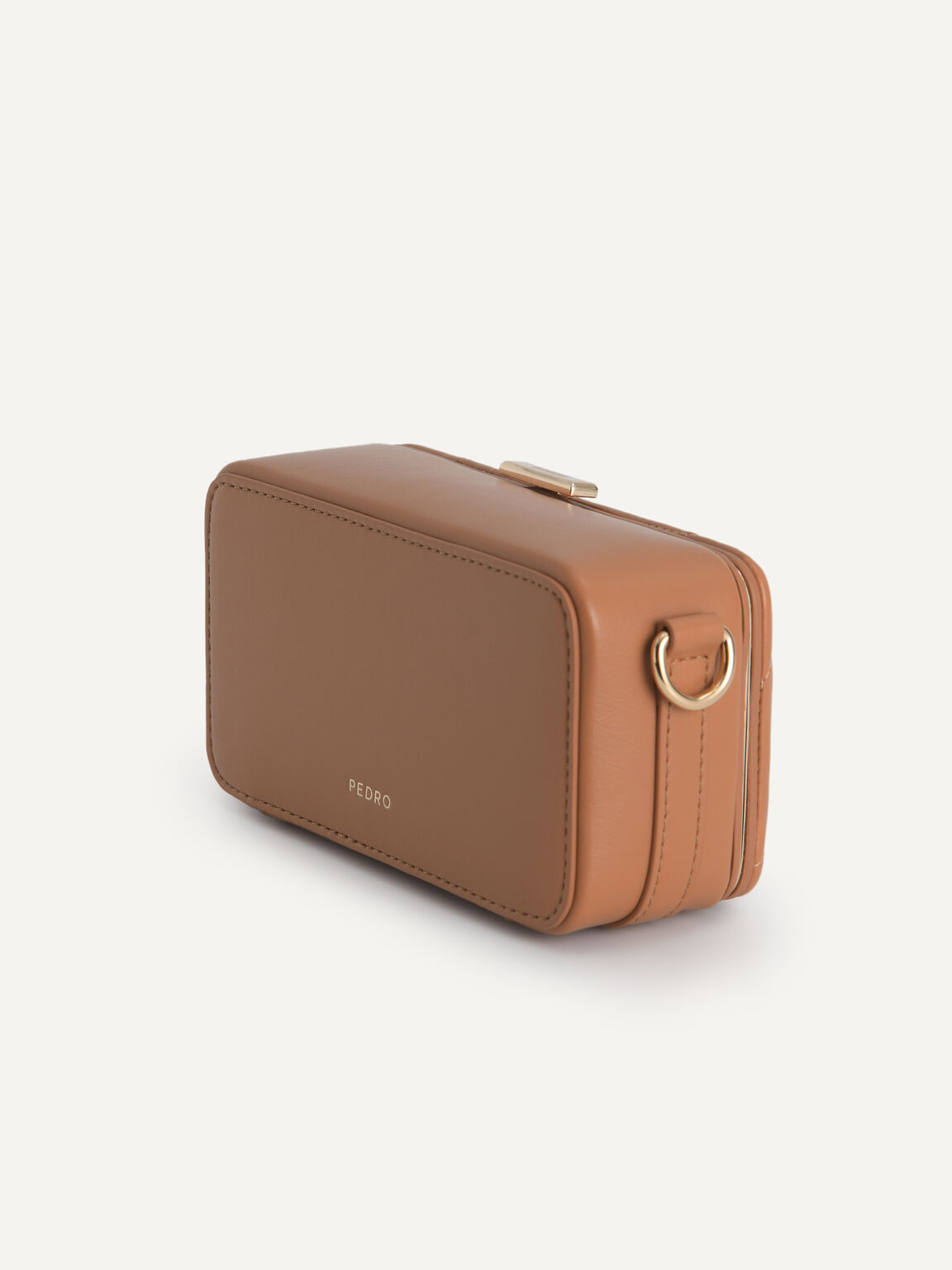 Quilted Boxy Shoulder Bag, Camel, hi-res
