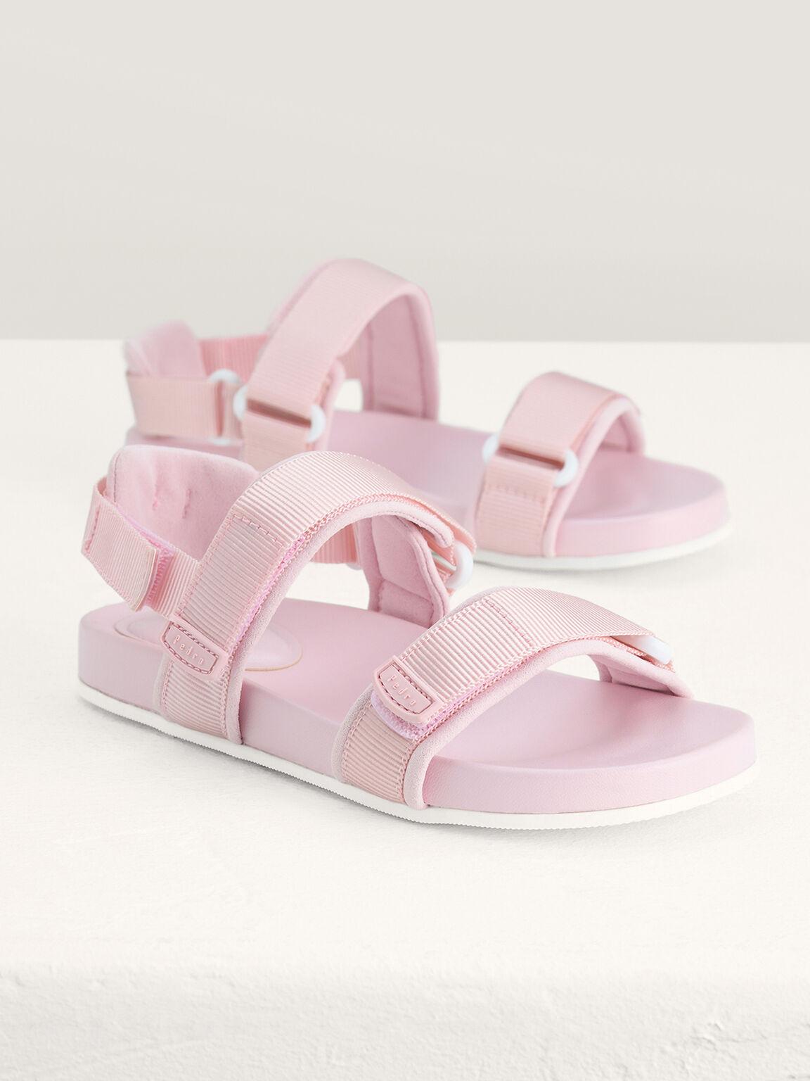 Monochrome Sandals, Light Pink, hi-res
