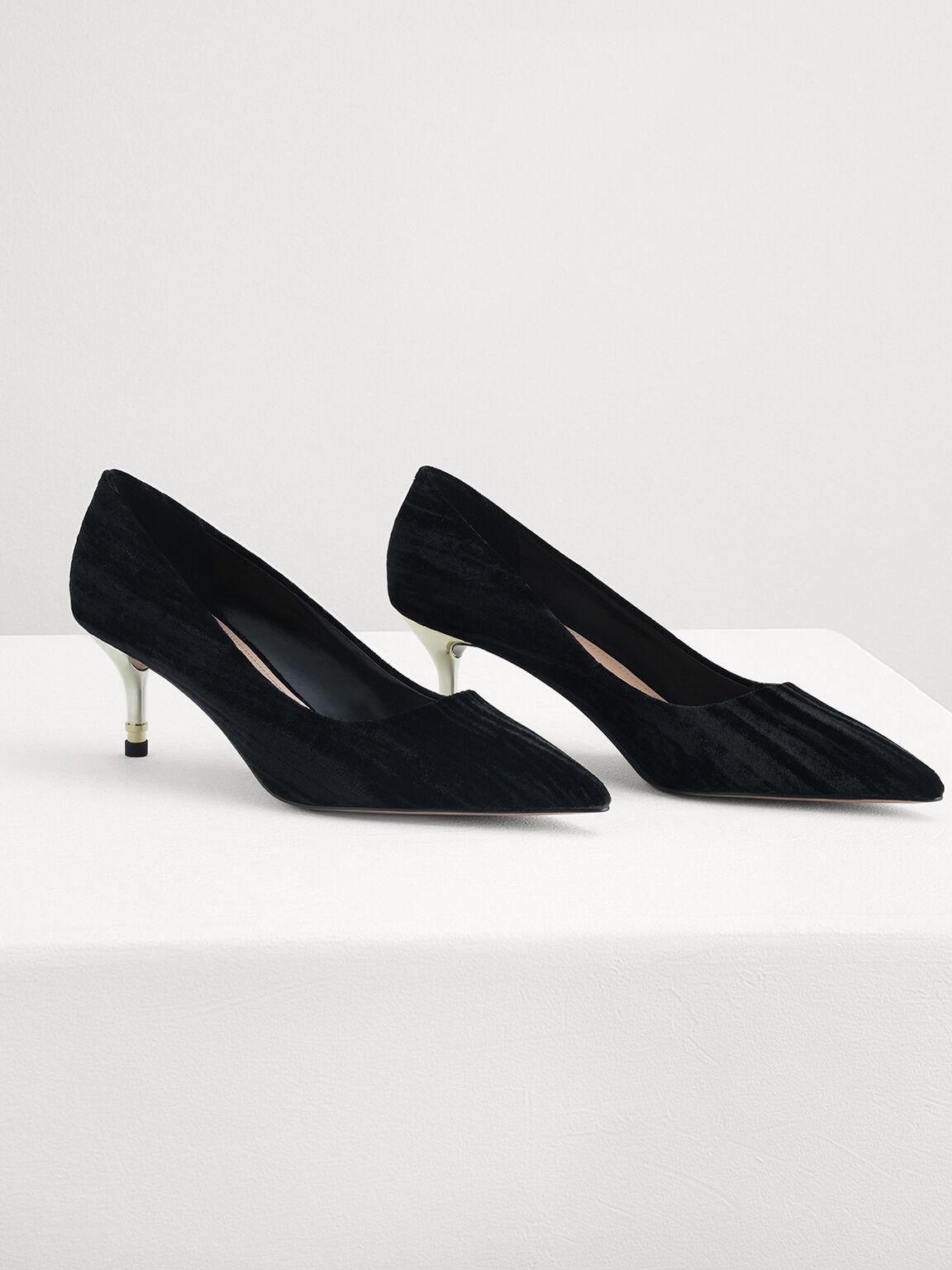 Velvet Heels, Black, hi-res