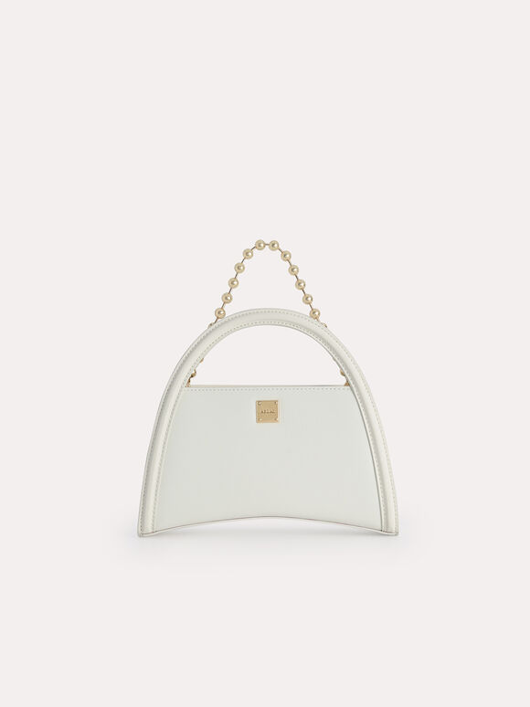 Mini Leather Shoulder Bag, Chalk, hi-res