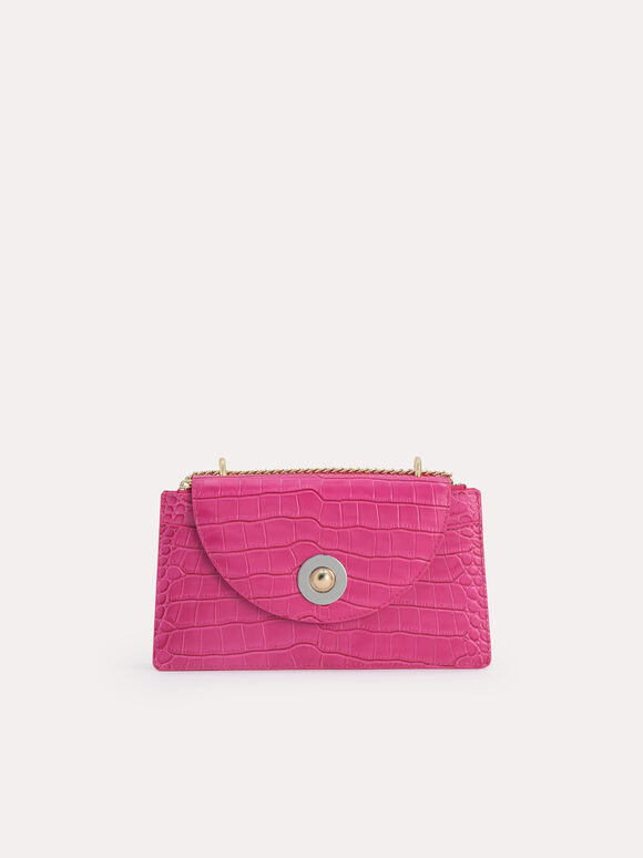Textured Leather Travel Organisers, Fuchsia, hi-res