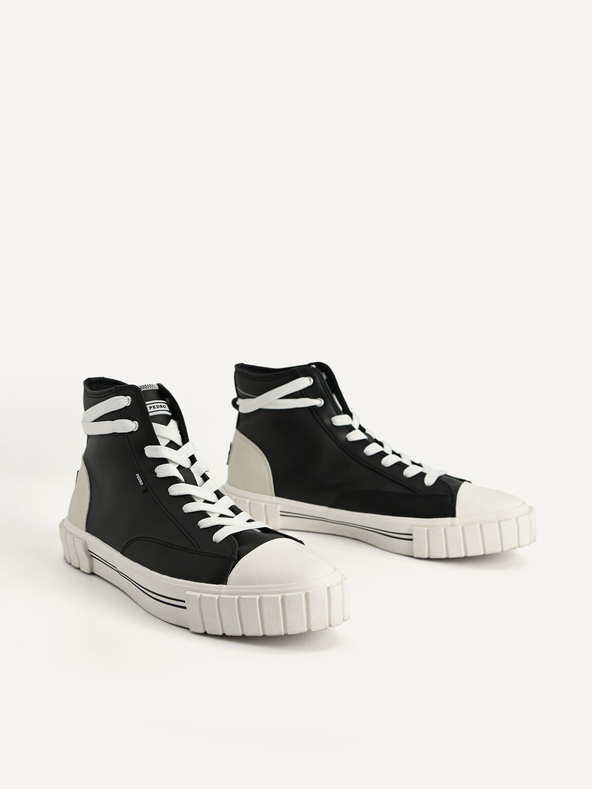 Beat Lace-Up Sneakers, Black, hi-res