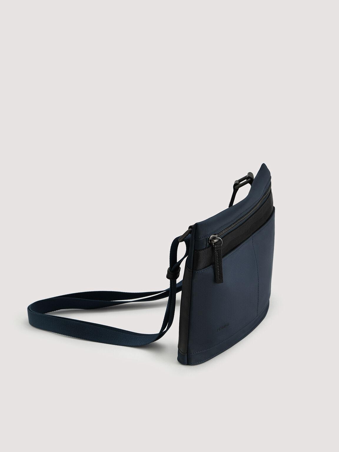 Nylon Sling Bag, Navy, hi-res