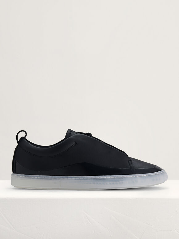 Casual Court Sneakers, Black, hi-res